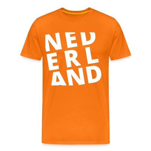 Oranje heren T-shirt NEDERLAND - Mannen Premium T-shirt