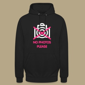 No photos please - Unisex Hoodie