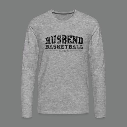 Men Rusbend Logo Long T grau - Männer Premium Langarmshirt