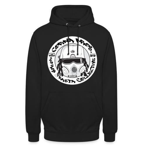 Corna Bros. Logo Front Hoodie (Black) - Unisex-hettegenser