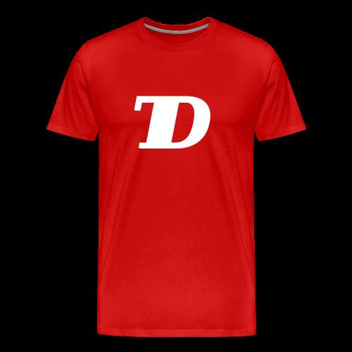 TD T-Shirt Logo - Weiß - Männer Premium T-Shirt