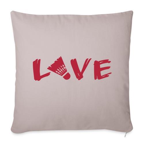 Badmiton Love - Sofakissenbezug 44 x 44 cm