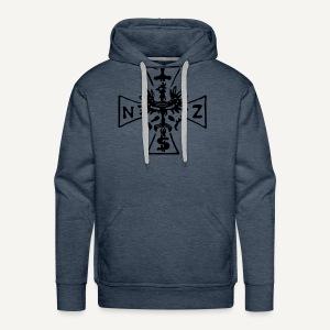 Krzyż NSZ - Bluza męska Premium z kapturem