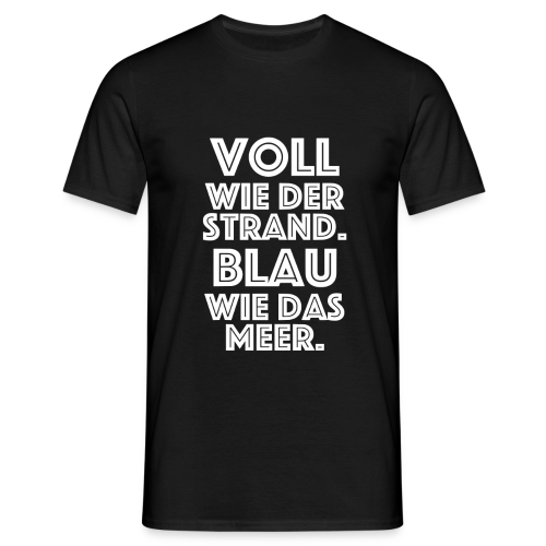 Voll blau - Männer T-Shirt