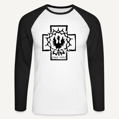 Krzyż WiN - Koszulka męska bejsbolowa z długim rękawem