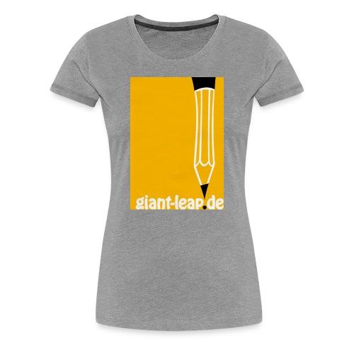 bleistift auf gelb - Frauen Premium T-Shirt