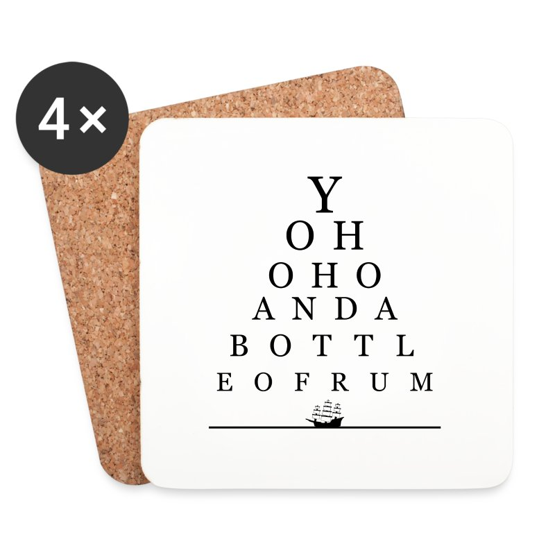 Bottle of Rum - Coasters (set of 4)