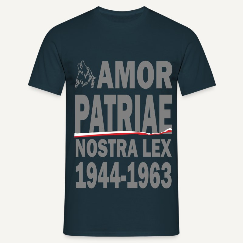 Amor patria nostra lex 1944-1963 - Koszulka męska