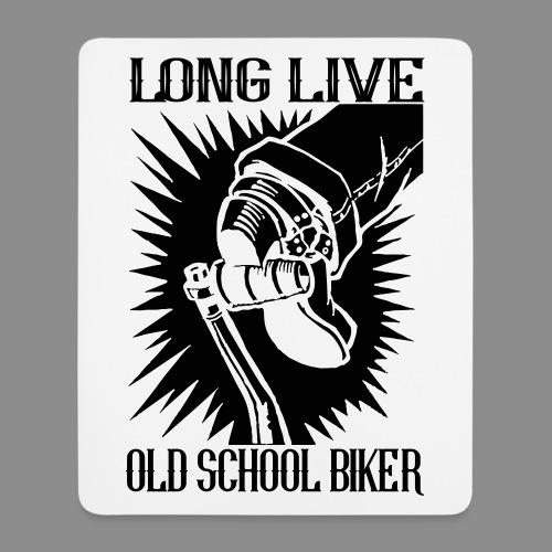 Long Live Old School Biker - Alfombrilla de ratón (vertical)