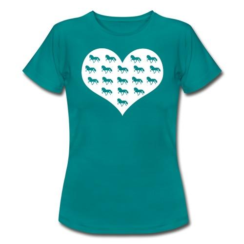 Tölter Herz - weiß - Shirt - Frauen T-Shirt