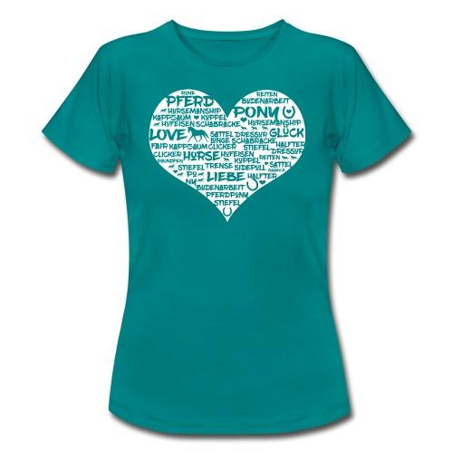 Herz Reiter - weiß - Shirt - Frauen T-Shirt