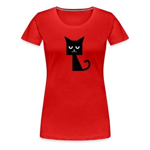 SquareCat T-Shirt - Frauen Premium T-Shirt