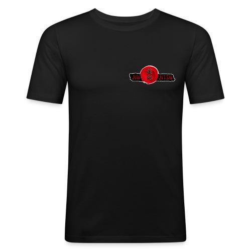 JiuJitsu-Standard-T-Shirt-mitTKJ_Logo-Ärmel-M1 - Männer Slim Fit T-Shirt