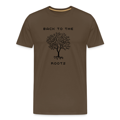 BACK TO THE ROOTS - Männer Premium T-Shirt