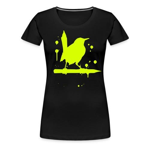 vogel grell - Frauen Premium T-Shirt