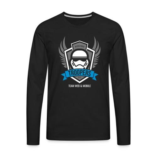 Longsleeve Webstorm Troopers (Logos mehrfarbig) - Männer Premium Langarmshirt