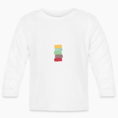 colorful macarons Baby Long Sleeve Shirts