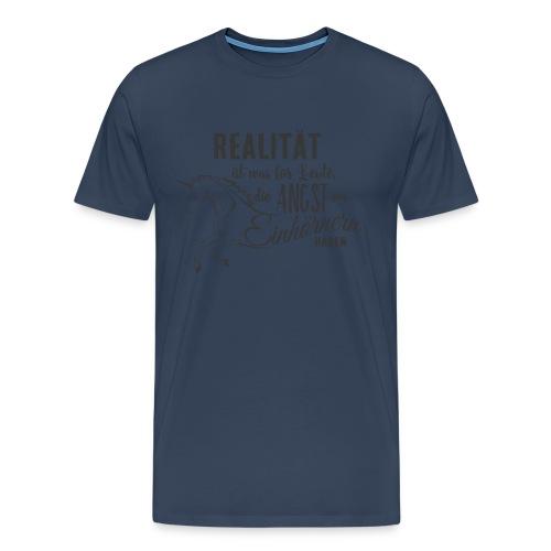 Einhorn Design Realität - RAHMENLOS Unicorn exklusiv Geschenk Collection - Männer Premium T-Shirt