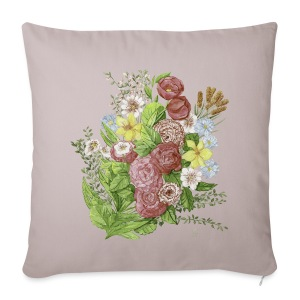 Bunte Blumen - Sofa pillow cover 44 x 44 cm