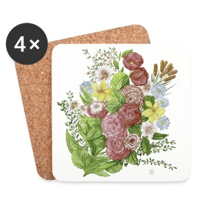 Bunte Blumen - Coasters (set of 4)