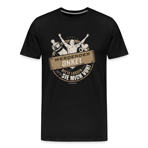 Werdender Onkel lassen Sie mich vor light Sepia 2 - Geschenk zur Geburt - RAHMENLOS - Männer Premium T-Shirt
