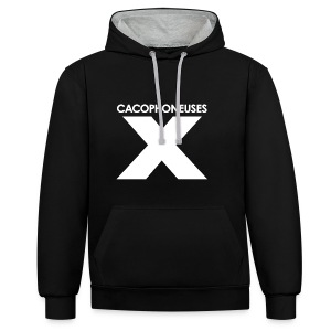 Black is black for winter - Contrast Colour Hoodie
