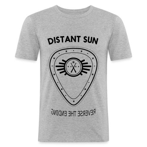Distant Sun - Mens Slim Fit Black Logo - Men's Slim Fit T-Shirt