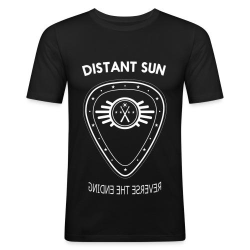 Distant Sun - Mens Slim Fit White Logo - Men's Slim Fit T-Shirt