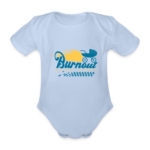 Burnout-Body kurz - Baby Bio-Kurzarm-Body