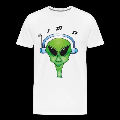 Woody Music T-Shirt weiß - Männer Premium T-Shirt