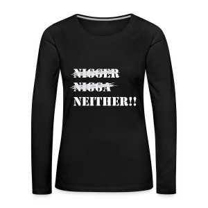 I'm Neither (Womens) - Women's Premium Longsleeve Shirt