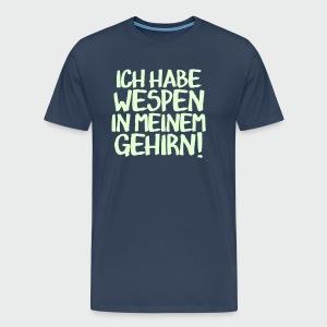 Wespen im Gehirn (glow) - Männer Premium T-Shirt