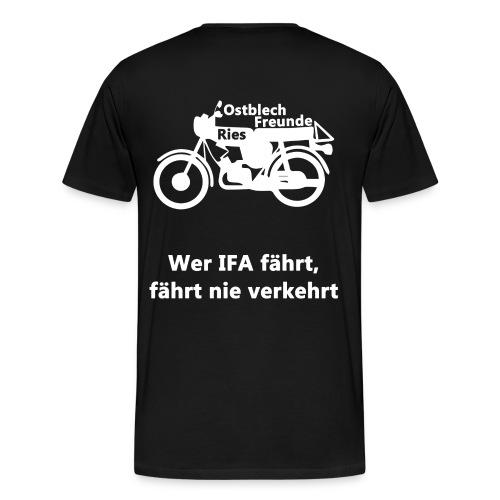 Männer T-Shirt - Ostblech Freunde Ries - Männer Premium T-Shirt