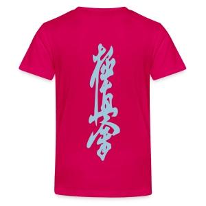 Karate is my boyfriend teenager t-shirt kyukushikai teken achterkant - Teenager Premium T-shirt