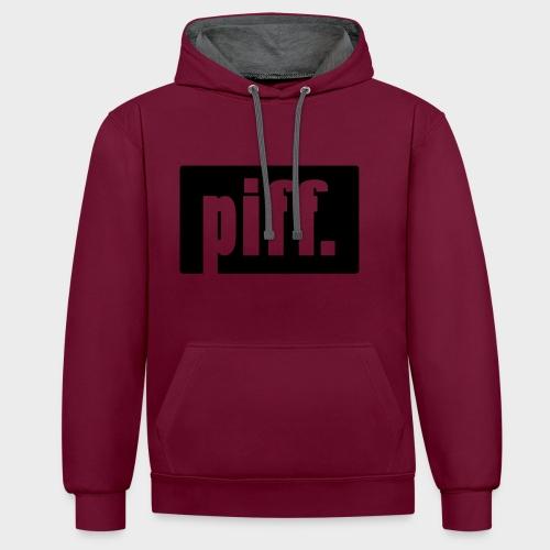 Piff Sweater - Kontrast-Hoodie