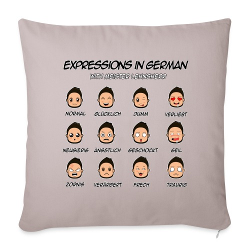German Expressions Pillow Case - Sofa pillowcase 17,3'' x 17,3'' (45 x 45 cm)
