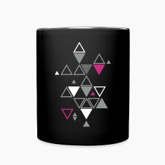 graphic pattern of triangles Mugs & Drinkware