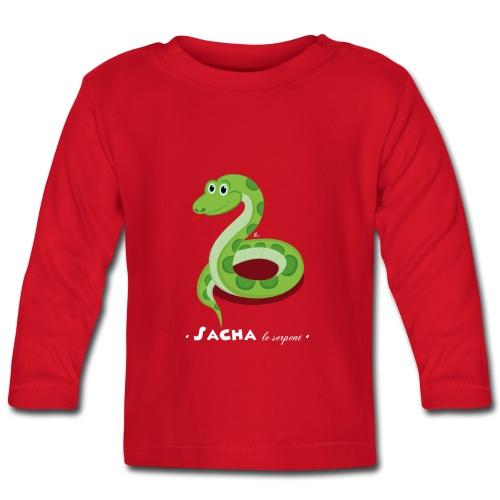 T-Shirt Bébé Sacha le serpent - T-shirt manches longues Bébé
