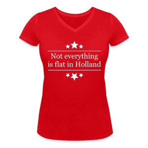 Uitdagend damesshirt Not everything is flat in Holland - Vrouwen T-shirt met V-hals