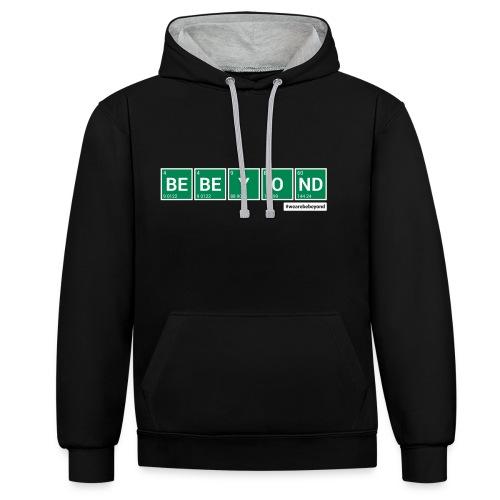 Braking Beyond Hoodie Black/Grey - Kontrast-Hoodie
