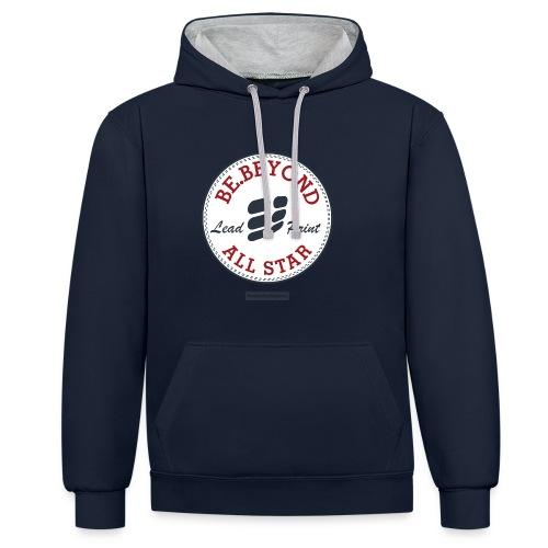 All Star Hoodie Navy/Grey - Kontrast-Hoodie