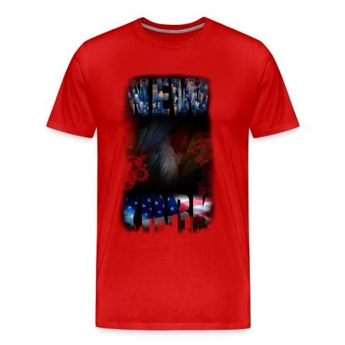 New York Skyline Shirt - Männer Premium T-Shirt