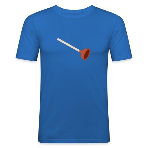 Plopper mannen slimfit - slim fit T-shirt