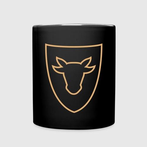 Tasse – Ochsenkopf Kontur - Tasse einfarbig