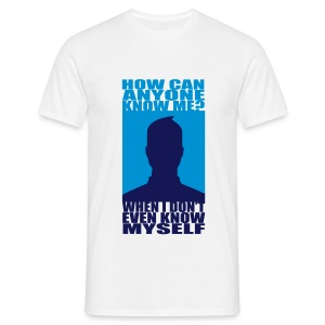 How Can Anyone Know Me? Hom-Flex -2 Coul -Logo Dos. - T-shirt Homme