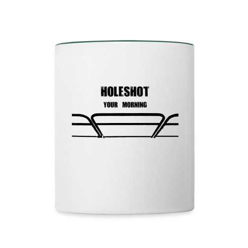 Bi color mug Holeshot your morning - Contrasting Mug