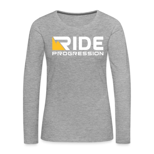 Women Shredder Longsleeve Grey/White - Frauen Premium Langarmshirt