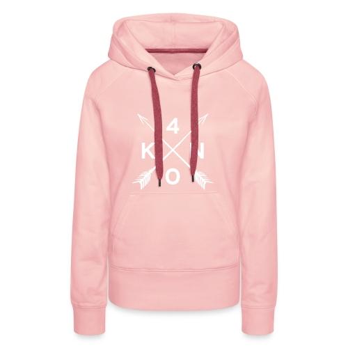 Forty Knots Damen Hoody Kristallrosa mit Weiß - Frauen Premium Hoodie