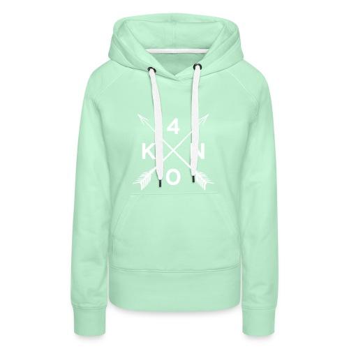 Forty Knots Damen Hoody Mintgrün mit Weiß - Frauen Premium Hoodie