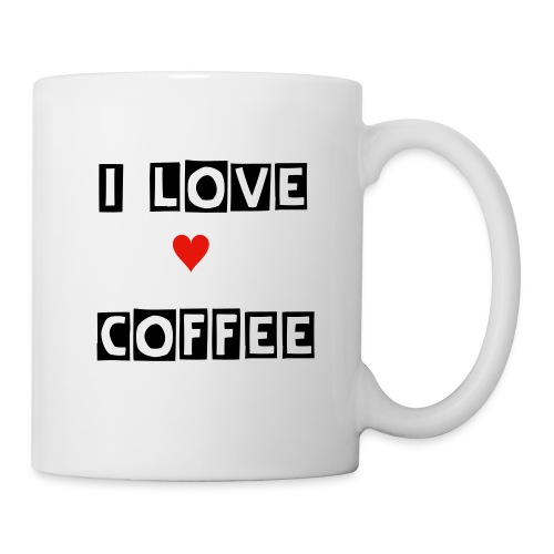 tasse i love coffee - Mug blanc